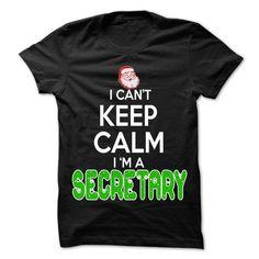 Keep Calm Secretary... Christmas Time ... - 0399 Cool Job Shirt ! T-Shirts, Hoodies (22.25$ ==► Order Here!)