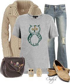 """""""Who gives a hoot Contest"""" by cindycook10 ❤ liked on Polyvore"""