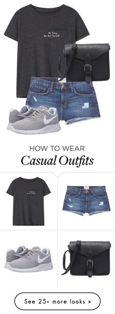 """Casual"" by freefriendswillwalk on Polyvore featuring MANGO, Current/Elliott and NIKE"