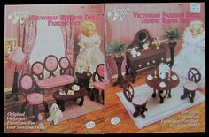 Plastic Canvas Fashion Doll Victorian Dining Room + Parlor Furniture in Crafts, Needlecrafts & Yarn, Needlepoint & Plastic Canvas | eBay