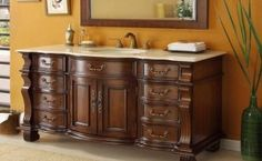 When you take up a bathroom redo project, cabinets should top your to-do list. These add to the look and feel of your bathroom apart from of course offering you all the storage space that you would need in the bathroom depending upon your lifestyle. Beautiful Houses Interior, Home Depot Bathroom Vanity, Bathroom Vanity, Bathroom, Solid Wood Cabinets, Bathroom Vanities For Sale, Home Interior Design, Bathroom Design, Bathroom Redo