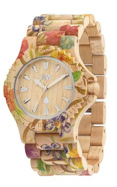 Date Flower Beige | WeWOOD Wooden Watches  -  I NEED ONE!!!