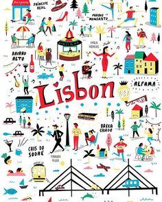 Lisboa # Art Print