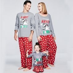 de no l famille correspondant cerfs pyjamas ensemble de no l de famille correspondant pyjama. Black Bedroom Furniture Sets. Home Design Ideas