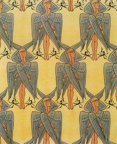 wallpaper design by c.f.a. voysey, 1889