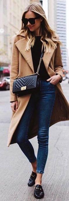 Camel, Black & Skinnie Jeans.