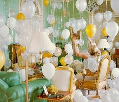 Why Don't You..... Fill a room with balloons. The Glamorous Housewife