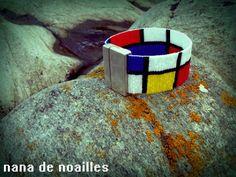 Manchette en perles braceletperles rocailles par nanadenoailles Mondrian, Cuff Bracelets, Etsy, Collection, Jewelry, Seed Beads, Fabrics, Unique Jewelry, Necklaces