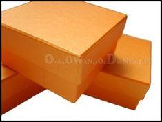 Pudełko ozdobne perłowe pomarańczowe