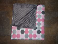 Minky and Flannel Baby Blanket
