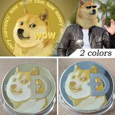 1X DogecoinDOGE CryptoCoin Gold Plated Doge Collective Metal Art Decor Gift