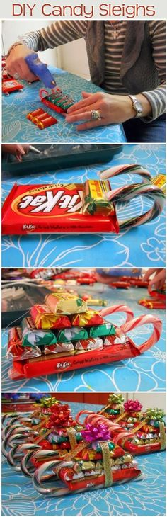 DIY Candy Sleighs Pictures, Photos, and Images for Facebook, Tumblr, Pinterest, and Twitter                                                                                                                                                                                 More