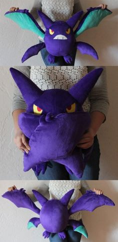 Crobat Plush, 18 inches tall with a wingspan of approximately 2.5 feethttp://fav.me/d8g4t0h