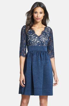 Eliza J Lace & Faille Dress (Petite) Petite $148.00 Nordstrom's