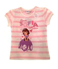 Disney-Princess-Sofia-T-Shirt-Short-Sleeved-Top-Girls-Clothing-Kids-UK-2-8-Years