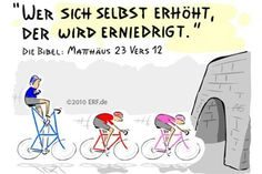"""Denn wer sich selbst #erhöht, der wird #erniedrigt; und wer sich selbst #erniedrigt, der wird #erhöht."" #Matthäus 23,12 #glaubensimpulse Christian Comics, Christian Memes, God Jesus, Jesus Christ, Jw Jokes, Faith Bible, God Loves Me, Believe In God, Gods Love"