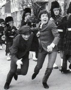 John Lennon and Paul McCartney I so love this photo!