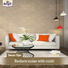 Apart from being a stylish material that adds warmth as well is useful, cork is also ideal for absorbing noise. #DecorTrends