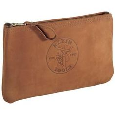 Klein Tools 12-1/2 in. Leather Zipper Bag-5139L at The Home Depot