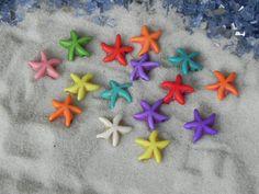 8 Miniature Starfish - Fairy Garden - beach scene - miniature garden - terrarium - fairy accessories - beach wedding supplies, starfish bead
