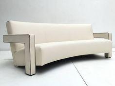 "Stunning De Stijl Gerrit Rietveld ""Utrecht' Sofa Cassina, circa 1988 7"