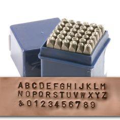 Beaducation: Economy Block Uppercase Letter & Number Stamp Set 3/32 (2.4mm) [SET053]