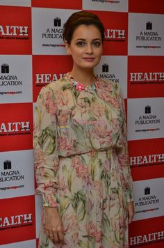 Dia mirza in a floral dress