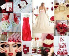 Red Wedding Inspiration Mood board