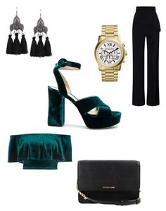 """""""velvet platform heels"""" by bethanyyk on Polyvore featuring Gianvito Rossi, Roland Mouret, River Island and Michael Kors"""