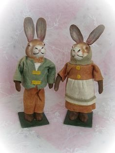 German Easter Bunny Rabbit Candy Containers