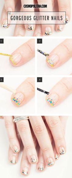 The dopest ombré glitter design. #nails #nailart #style #beauty #mani #manicure