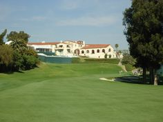 finishing hole at Riviera Country Club