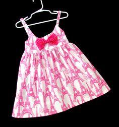 Pink Paris dress for 3 - 4 year old girl Paris Outfits, Paris Dresses, Girl Outfits, 4 Year Old Girl, Pink Paris, 4 Year Olds, Dress With Bow, Cute Pink, Workout Tops