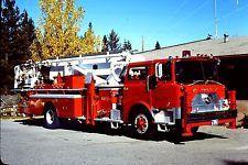 Tahoe NV FD Truck 3 - 1975 Mack CF Baker 75' Aerialscope.