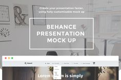 Behance presentation mock up
