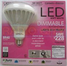 Amazon.com: Feit Electric Conserv-Energy Dimmable BR40 LED 17 Watt Flood Light Bulb - 100 Watt Equivalent Replacement: Home Improvement