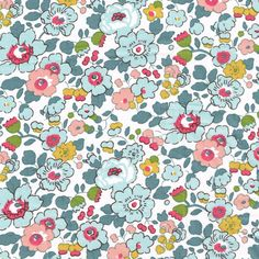 Liberty Fabric Betsy Pale Blue Tana Lawn by Alicecarolinesupply