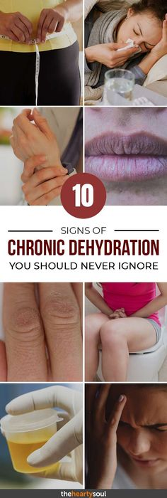 Are you chronically sore and fatigued? It could be that you're not enough water- here are 10 signs you may be suffering from dehydration.