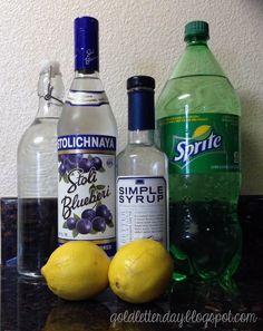 Gold Letter Day: Thirsty Thursday: Blueberry Hard Lemonade