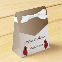 Cardinal Wedding Favor Box