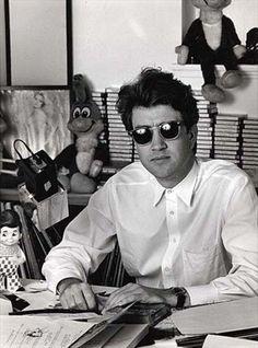 "David Lynch on the set of ""Twin Peaks"" Martin Scorsese, Stanley Kubrick, Alfred Hitchcock, Hitchcock Film, Elephant Man, David Lynch Twin Peaks, Mode Pop, Tv Movie, Werner Herzog"