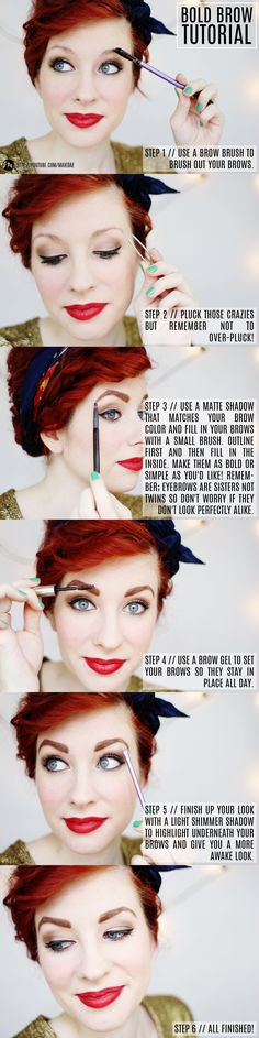 Bold Brow Tutorial from @Savannah Hall Wallace // Maiedae {click to see the video!} #eyebrows #makeup #beauty