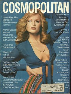 Cosmopolitan magazine, OCTOBER 1973 Model: Kathy Davis  Photographer: Francesco Scavullo