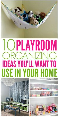 Is your playroom overflowing with clutter? These playroom and toy organization ideas will have your toys organized in no time!