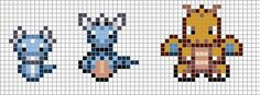 Minecraft Easy Pixel Art Templates Pokemon Charizard : CRAFTS