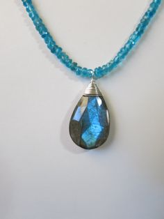 Blue Apatite and Labradorite Necklace. www.sarahwalkerjewelry.com