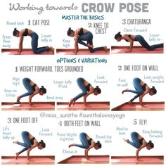 84 best crow pose images  yoga exercises health yoga poses