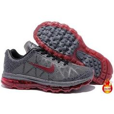 Nike Air Max 2009 Women Mesh Shoes Grey/Red Color Air Max 2009, Nike Air Max 2012, Running Shoes For Men, Mens Running, Air Max Sneakers, Sneakers Nike, Baby Shoes, Red Color, Kids