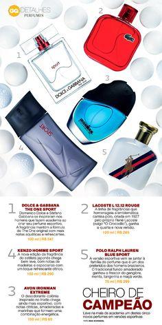 GQ indica a novas versões esportes de perfumes - GQ