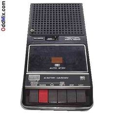 cassette player/recorder. My first one looked like this. I thought it was the best christmas present ever. I was 6th grade.